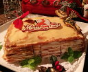 クリスマスケーキ☆極上!チーズクリームのミルクレープ「チッチケーキ」Mサイズ・プレーン☆