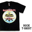 ロックTシャツ 半袖 Iron Maiden Tシャツ アイアンメイデン バンドTシャツ メンズ レディース ロックT バンドT バンT ロゴ 衣装 ロゴT ダンス ミュージック ファッション ROCK ブラック 黒 コットン 綿 100% 春夏 夏物 おしゃれ