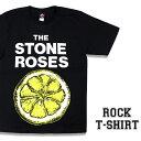 ロックTシャツ 半袖 The Stone Roses Tシャツ ストーンローゼズ バンドTシャツ メンズ レディース ロックT バンドT バンT ロゴ 衣装 ロゴT ダンス ミュージック ファッション ROCK ブラック 黒 コットン 綿 100% 春夏 夏物 おしゃれ