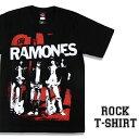 ロックTシャツ 半袖 Ramones Tシャツ ラモーンズ バンドTシャツ メンズ レディース パロディ Tシャツ おもしろ ロゴ 衣装 ダンス ミュージック ファッション ROCK ブラック 黒 コットン 綿 100% 春夏 夏物 おしゃれ