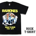 ロックTシャツ 半袖 Ramones Tシャツ ラモーンズ バンドTシャツ メンズ レディース ロックT バンドT バンT ロゴ 衣装 ロゴT ダンス ミュージック ファッション ROCK ブラック 黒 コットン 綿 100% 春夏 夏物 おしゃれ