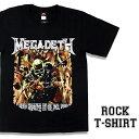 ロックTシャツ 半袖 Megadeth Tシャツ メガデス バンドTシャツ メンズ レディース ロックT バンドT バンT ロゴ 衣装 ロゴT ダンス ミュージック ファッション ROCK ブラック 黒 コットン 綿 100% 春夏 夏物 おしゃれ