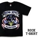 ロックTシャツ 半袖 Bon Jovi Tシャツ ボンジョヴィ バンドTシャツ メンズ レディース ロックT バンドT バンT ロゴ バンド ロゴT ダンス ミュージック ファッション ROCK ブラック ホワイト 黒 白 ヘヴィメタ コットン 綿 100% 春夏 夏物 おしゃれ