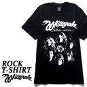 ロックTシャツ 半袖 Whitesnake Tシャツ ホワイトスネイク バンドTシャツ メンズ レディース パロディ Tシャツ おもしろ ロゴ 衣装 ダンス ミュージック ファッション ROCK ブラック 黒 コットン 綿 100% 春夏 夏物 おしゃれ