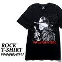 ロックTシャツ 半袖 Foo Fighters Tシャツ フー ファイターズ バンドTシャツ メンズ レディース ロックT バンドT バンT ロゴ 衣装 ロゴT ダンス ミュージック ファッション ROCK ブラック 黒 コットン 綿 100% 春夏 夏物 おしゃれ