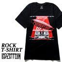 ロックTシャツ 半袖 Led Zeppelin Tシャツ レッドツェッペリン バンドTシャツ メンズ レディース ロックT バンドT バンT ロゴ 衣装 ロゴT ダンス ミュージック ファッション ROCK ブラック 黒 コットン 綿 100% 春夏 夏物 おしゃれ
