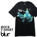 ロックTシャツ 半袖 Blur Tシャツ ブラー バンドTシャツ メンズ レディース ロックT バンドT バンT ロゴ 衣装 ロゴT ダンス ミュージック ファッション ROCK ブラック 黒 コットン 綿 100% 春夏 夏物 おしゃれ