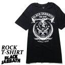ロックTシャツ 半袖 Black Sabbath Tシャツ ブラックサバス バンドTシャツ メンズ レディース ロックT バンドT バンT ロゴ 衣装 ロゴT ダンス ミュージック ファッション ROCK ブラック 黒 コットン 綿 100% 春夏 夏物 おしゃれ
