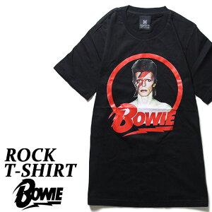 ロックTシャツ 半袖 David Bowie Tシャツ デビッドボウイ バンドTシャツ メンズ レディース パロディ Tシャツ おもしろ ロゴ 衣装 ダンス ミュージック ファッション ROCK ブラック 黒 コットン 綿 100% 春夏 夏物 おしゃれ