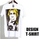デザイン ロックTシャツ 半袖 Kurt Cobain Tシャツ カートコバーン バンドTシャツ メンズ レディース ロックT バンドT バンT ロゴ 衣装 ロゴT ダンス ミュージック ファッション