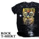 ロックTシャツ 半袖 宇宙 デザイン Metallica Tシャツ メタリカ スペースアート バンドTシャツ メンズ レディース ロックT バンドT バンT ロゴ 衣装 ロゴT ダンス ミュージック ファッション ROCK ブラック 黒 コットン 綿 100% 春夏 夏物 おしゃれ