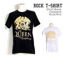 ロックTシャツ 半袖 Queen Tシャツ クイーン バンドTシャツ メンズ レディース ロックT バンドT バンT ロゴ バンド ロゴT ダンス ミュージック ファッション ROCK ブラック 黒 ヘヴィメタ コットン 綿 100% 春夏 夏物 おしゃれ