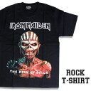 ロックTシャツ 半袖 アメコミ風 Iron Maiden Tシャツ アイアンメイデン バンドTシャツ メンズ レディース ロックT バンドT バンT ロゴ 衣装 ロゴT ダンス ミュージック ファッション ROCK ブラック 黒 コットン 綿 100% 春夏 夏物 おしゃれ