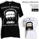 ロックTシャツ 半袖 Marilyn Manson Tシャツ マリリンマンソン バンドTシャツ メンズ レディース ロックT バンドT バンT ロゴ バンド ロゴT ダンス ミュージック ファッション ROCK ブラック ホワイト 黒 白 ヘヴィメタ コットン 綿 100% 春夏 夏物 おしゃれ