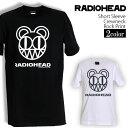 ロックTシャツ 半袖 Radiohead Tシャツ レディオヘッド バンドTシャツ メンズ レディース ロックT バンドT バンT ロゴ バンド ロゴT ダンス ミュージック ファッション ROCK ブラック ホワイト 黒 白 ヘヴィメタ コットン 綿 100% 春夏 夏物 おしゃれ