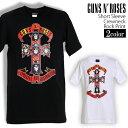 ロックTシャツ 半袖 Guns N' Roses Tシャツ ガンズ・アンド・ローゼズ GN'R バンドTシャツ メンズ レディース ロックT バンドT バンT ロゴ バンド ロゴT ダンス ミュージック ファッション ROCK ブラック ホワイト 黒 白 ヘヴィメタ コットン 綿 100% 春夏 夏物 おしゃれ