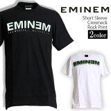 ロックTシャツ 半袖 Eminem Tシャツ エミネム バンドTシャツ メンズ レディース ロックT バンドT バンT ロゴ バンド ロゴT ダンス ミュージック ファッション ROCK ブラック ホワイト 黒 白 ヘヴィメタ コットン 綿 100% 春夏 夏物 おしゃれ