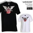 ロックTシャツ 半袖 Weezer Tシャツ ウィーザー バンドTシャツ メンズ レディース ロックT バンドT バンT ロゴ バンド ロゴT ダンス ミュージック ファッション ROCK ブラック ホワイト 黒 白 ヘヴィメタ コットン 綿 100% 春夏 夏物 おしゃれ