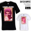 ロックTシャツ 半袖 David Bowie Tシャツ デヴィッドボウイ バンドTシャツ メンズ レディース ロックT バンドT バンT ロゴ バンド ロゴT ダンス ミュージック ファッション ROCK ブラック ホワイト 黒 白 ヘヴィメタ コットン 綿 100% 春夏 夏物 おしゃれ