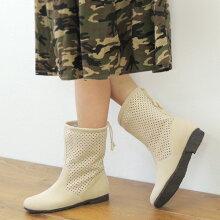 No.478201gy/涼やかデザイン!大人のパンチングブーツ/春ブーツ(レディースファッション女性用ブーツ靴おしゃれかわいい洗濯機簡単お手入れウォッシャブル洗えるCOULEURVARIE大人かわいい大人カジュアル防寒寒さ対策10P26Mar16