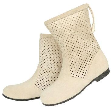 No.478201owh/涼やかデザイン!大人のパンチングブーツ/春ブーツ(レディース ファッション 女性用 ブーツ 靴 おしゃれ かわいい 洗濯機 簡単 お手入れ ウォッシャブル 洗える ホワイト 白 大人カジュアル 防寒 寒さ対策