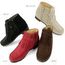 No.478256 クロールバリエ フリンジ インヒール ショートブーツ (レディース ファッション 女性用 ブーティー ブーティ ショートブーツ ブーツ 靴 おしゃれ かわいい ショート ぶーティー 通販 楽天 防寒 寒さ対策 10P03Dec16