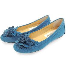 No.651201クロールバリエフラワーローヒールパンプス(レディース婦人靴女性用柔らかい軽いシンプル痛くないブラック歩きやすい履きやすいふわふわ花コサージュ)P23Jan16