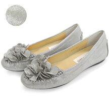No.651201クロールバリエフラワーローヒールパンプス(レディース婦人靴女性用柔らかい軽いシンプル痛くないブラック歩きやすい履きやすいふわふわ花コサージュ)P20Feb16
