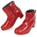 No.474301 バスクラフト エナメル バイカラー ショートレインブーツ DARK RED (レディース 靴 おしゃれ シューズ レインブーツ レインシューズ ショート かわいい エナメル 通販 楽天) 10P03Dec16