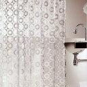 クーポン!日本製 シャワーカーテン ディスク 180×120cm 【防水カーテン カビがはえにくい ...
