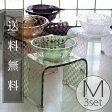 バスチェアM&洗面器M&手桶「チェッカー」3点セット【送料無料 バスチェアー アクリル セット おしゃれ】