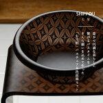 バス2点セット「SHIPPOU(七宝)」アクリルバスチェア&洗面器セット(マットブラウン)