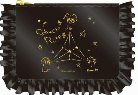 KING OF PRISM -Shiny Seven Stars- フリルポーチ 03 Schwarz Rose画像