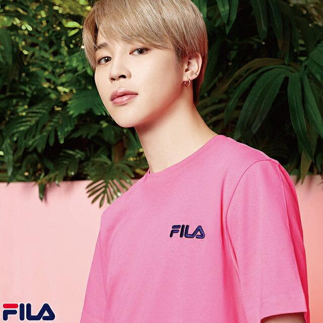 トップス, Tシャツ・カットソー 50OFF FILA JIMIN BTS Tee T FILA Global Artist BTS T-Shirt FM9357 Pink SPORT 1