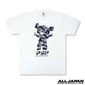 PSP武藤ベアー迷彩グレーTシャツホワイト