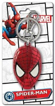 MARVEL キーリング バッジセット スパイダーマン カラーヘッドキーリング