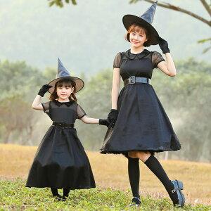 ハロウィン コスプレ 仮装 魔女 魔女コスプレ キッズ 衣装 小悪魔 魔女 吸血鬼 バンパイア デビル レディース 大人 女の子 魔女 大人 デビル 悪魔帽子 衣装 魔法使い 魔法少女 こすぷれ 親子 お揃い おそろい ペア 家族