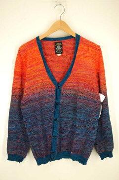 ディーゼル DIESEL カーディガン メンズ - オレンジ系 × 青系 import:M superior quality knit【中古】【ブランド古着バズストア】【071218】