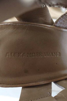 【】AlexanderWang(アレキサンダーワン)アンクルストラップサンダルサイズ[38]レディース女性WOMENサンダルベージュ系8,000円以上で送料無料【古着】【USED】【10P03Sep16】