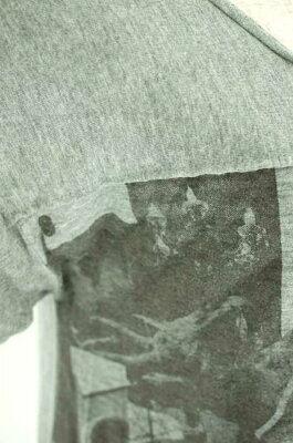 ●【中古】BalconyandBed(バルコニーアンドベッド)サイドスラッシュ切替プリントトップスサイズ[表記無]レディース女性WOMENTシャツシルバー系8,000円以上で送料無料【古着】【USED】【10P27May16】