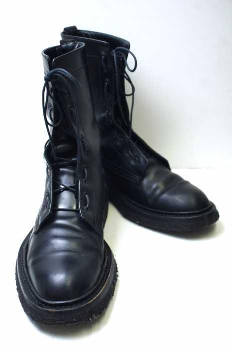 Dior HOMME(ディオールオム) 07AW レザーコンバットブーツ サイズ[40] メンズ 男性 MEN ブーツ ブラック系 【中古】【ブランド古着バズストア】:BAZZSTORE ブランド古着バズストア