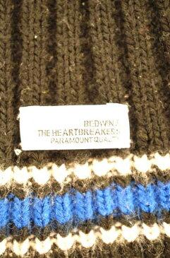 ベドウィンアンドザハートブレイカーズ BEDWIN&THE HEARTBREAKERS 手袋 メンズ - 黒系 × 青系 ニットアームウォーマー【中古】【ブランド古着バズストア】【071118】