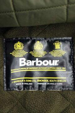 バブアー Barbour コート メンズ - ゴールド系 × 緑系 POLARTEC キルティングライナーコート【中古】【ブランド古着バズストア】【040918】