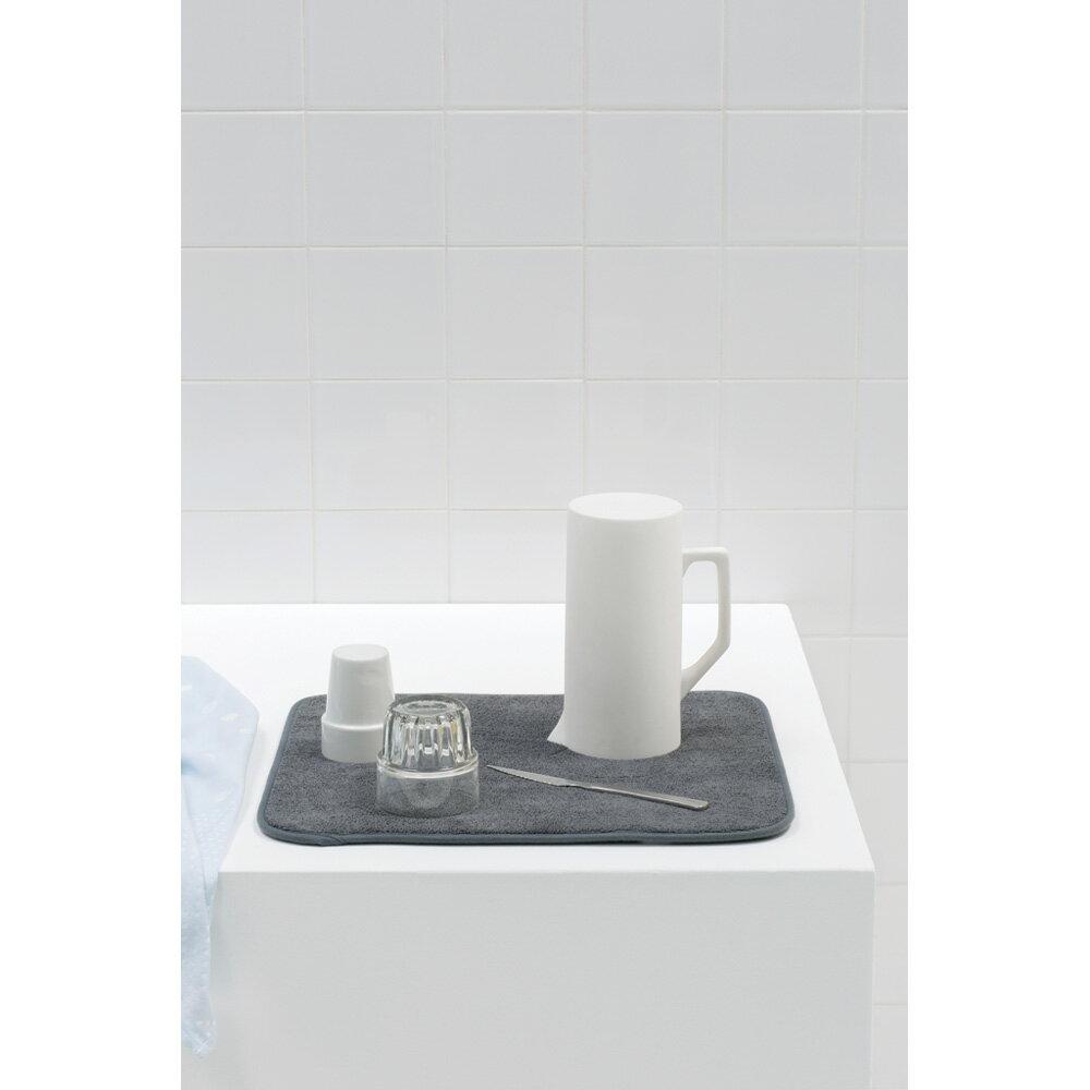【日本正規代理店】ブラバンシアBrabantiaマイクロファイバー・ディッシュ・ドライング・マット水切り吸収マット速乾洗濯可能ダークグレイ117626