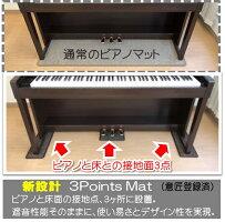 3PointsMat(3ポイント・マット)電子ピアノ用マット|防音・防振・防傷電子ピアノ専用に開発されたマット。ヤマハ・カワイ・ローランド・カシオ・コルグなど多くのメーカーの電子ピアノに対応