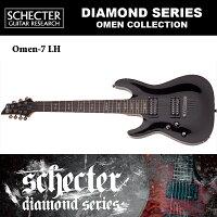 シェクターSCHECTER/OMEN-7LHBLKオーメン7レフトハンド(左利き用)ブラックAD-OM-77弦ギターダイヤモンドシリーズ送料無料
