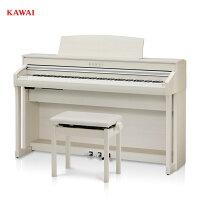 カワイCA78A/KAWAI電子ピアノCA-78プレミアムホワイトメープル調白ConcertArtistシリーズグランドピアノと同じシーソー構造の木製鍵盤配送設置無料