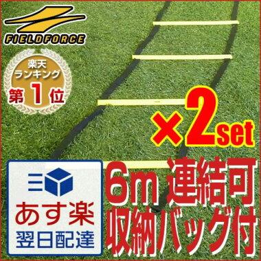 【送料無料/2セット組】スピード養成トレーニングに!<トレーニング用品>連結可能トレーニングラダー6mbyフィールドフォース