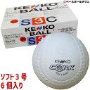 ソフトボール 3号球 ナガセケンコー (1箱-6個入り) 検