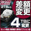 セットオプション 内蔵ハードディスク 2TB→4TBへ変更 単品購入不可(キャンペーン特価)【OP2TB-4TB】